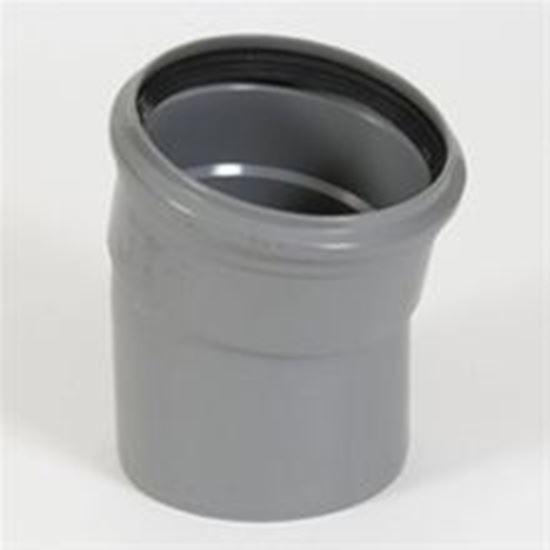 Picture of PVC bocht D.110 - 15° - M/S