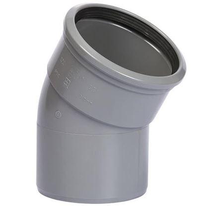 Picture of PVC bocht D.110 - 30° - M/S