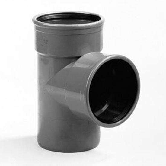 Picture of PVC T-stuk 2x M/S - D.110 - 90°
