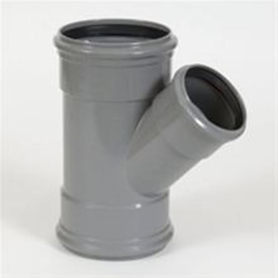 Picture of PVC T-stuk  3x M - D.110 - 45°