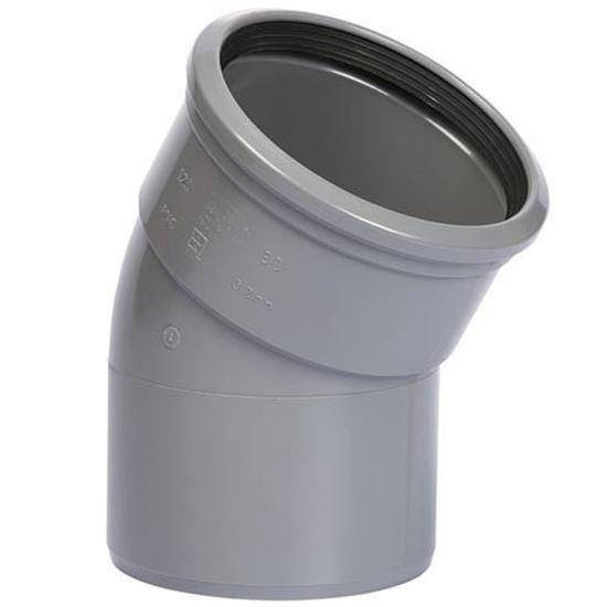 Picture of PVC bocht D.125 - 30° - M/S