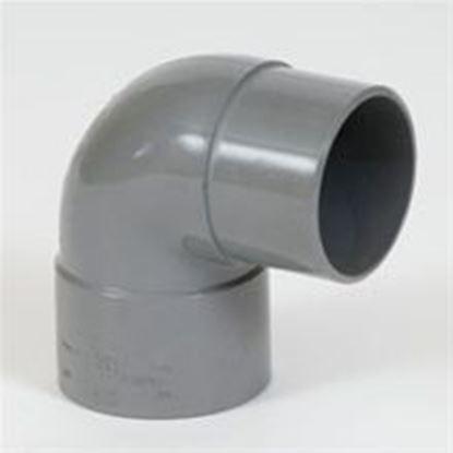 Picture of PVC bocht D.125 - 88° - M/S