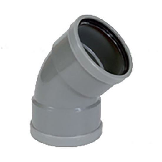Picture of PVC bocht D.160 - 45° - M/M