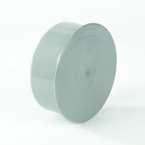 Picture of PVC eindkap mof grijs - D.160