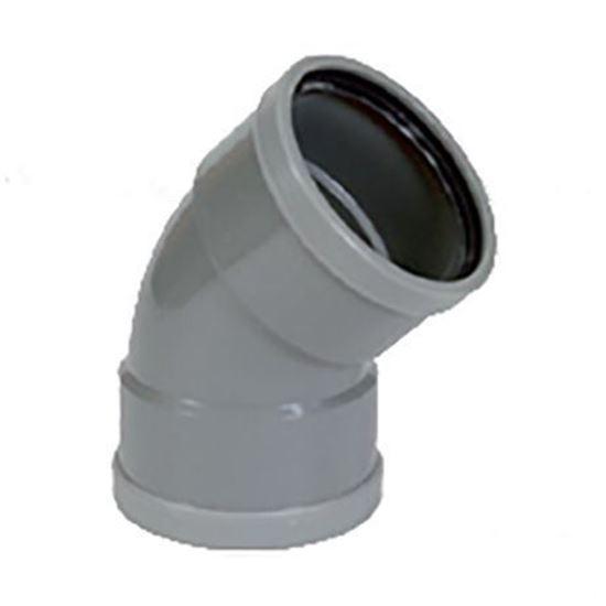 Picture of PVC bocht D.125 - 45° - M/M