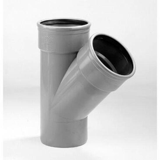 Picture of PVC T-stuk 2x M/S - D.125 - 45°