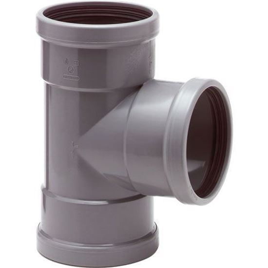 Picture of PVC T-stuk 3x M - D.125 - 90°