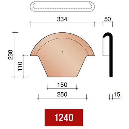 Picture of Koramic stormpan 44/993 kopplaat rood